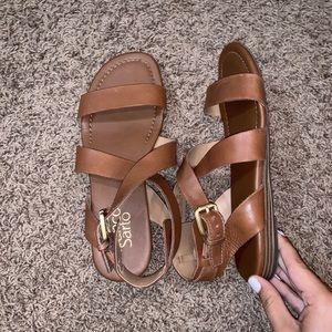 franco sarto leather strappy sandals